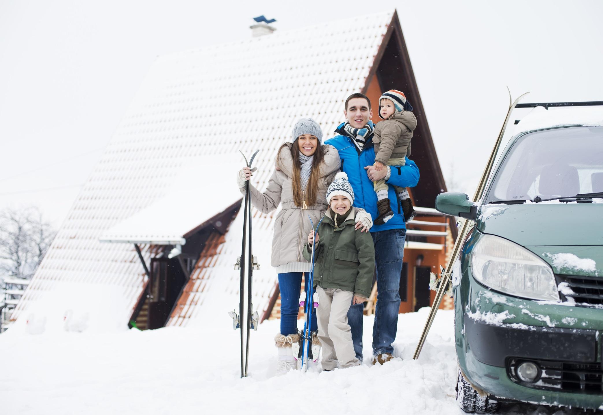 Wyjazd rodzinny w góry zimą